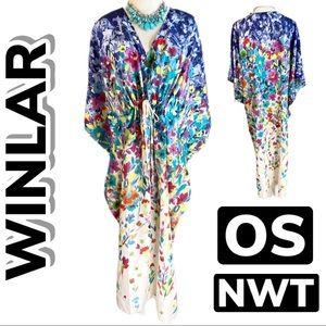 NWT Winlar Floral Kaftan/Dress (One Size)